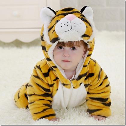ハロウィン新しい生まれ幼児男の子衣装かわいい赤ちゃん動物プリント冬服