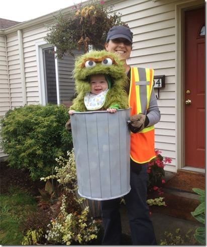 ゴミ箱と清掃員